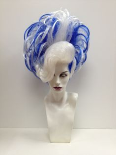 Blue White Ribbon Wig #wigs #outfitterswig #blueandwhitehair