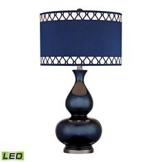 Heathfield Glass LED Table Lamp in Navy Blue by Dimond Lighting