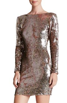 Dress the Population 'Lola' Backless Sequin Minidress available at #Nordstrom
