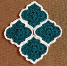 Crochet Quilt, Crochet Blocks, Tapestry Crochet, Crochet Home, Crochet Crafts, Crochet Projects, Crochet Motif Patterns, Granny Square Crochet Pattern, Crochet Diagram