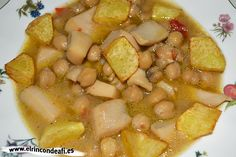 Chocos con garbanzos.