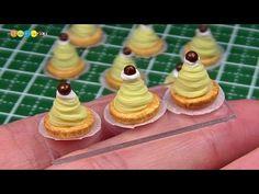 DIY Miniature Mont Blanc Cake (Fake food) ミニチュアモンブラン作り - YouTube