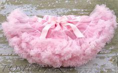 Pink chiffon pettiskirt, kids, petti skirt,holiday, Birthday, light pink, baby, chiffon girls skirt, toddler, baby, fluffy