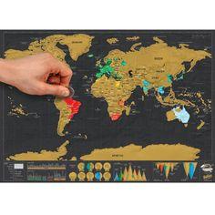 Wer in der Welt zuhause ist, freut sich sehr über dieses aufmerksame Geschenk: Die Rubbel-Weltkarte in der De-luxe-Ausführung zeigt auf stilvolle Art, wo man schon war. Hat man ein Land besucht, rubbelt man mit einer Münze das Gold weg und legt seine farbenfrohen Entdeckungen frei. Hervorragend für Weltenbummler und Vielreisende!