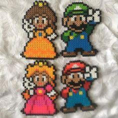 Super Mario perler beads by perlerbeads