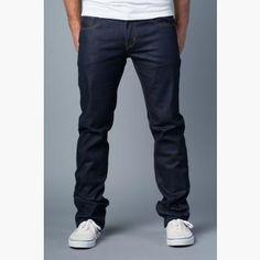 {Vantage Point} Drifted Slim-Straight Jeans in Indigo Montoya