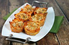 "Emily Bites - Weight Watchers Friendly Recipes: Chicken Parmesan Wonton ""Cupcakes"""