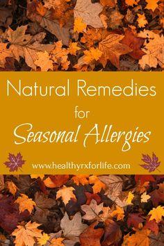 Natural Remedies for Seasonal Allergies - Healthy Rx for Life Natural Wart Remedies, Natural Remedies For Allergies, Eczema Remedies, Holistic Remedies, Herbal Remedies, Health Remedies, Sleep Remedies, Cure For Allergies, Seasonal Allergies