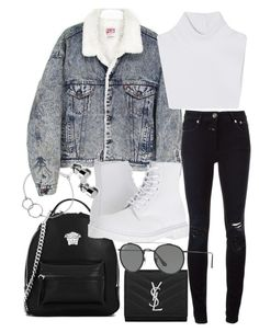 A fashion look from March 2017 featuring michael kors tops, ripped jeans and dr martens shoes. Browse and shop related looks. Teenage Girl Outfits, Teen Fashion Outfits, Teenager Outfits, Edgy Outfits, Cute Casual Outfits, College Outfits, Fall Outfits, Edgy School Outfits, Fashion Mode