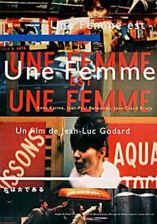 Une femme est une femme Jean-Luc Godard movie poster print 2