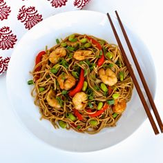 The Foodie Physician: Dining with the Doc: Hoisin Shrimp and Edamame Stir-Fry with Soba Noodles