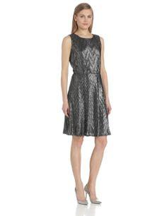 Amazon.com: NY Collection Women's Sleeveless Scoop Neck Dress, Ashtown, Large: Clothing