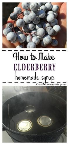 Easy recipe for canning elderberry syrup to use as a home remedy. Step-by-step instructions for canning homemade elderberry syrup. Great on pancakes and also an easy DIY home remedy for the common cold. Elderberry Cough Syrup, Elderberry Recipes, Elderberry Jelly Recipe, Elderberry Syrup Recipe With Sugar, Elderberry Ideas, Fruit Syrup Recipe, Cordial Recipe, Elderberry Gummies, Canning Soup Recipes