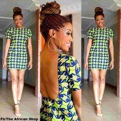 African print dress! Beautiful Ankara!