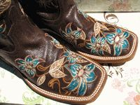 """Ladies """"Lily-ana"""" Embroidered Floral Macie Bean Boots by Anderson Bean 6B"""