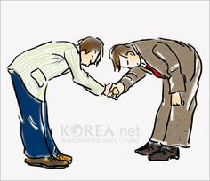 Interactions in public:  -The junior person will be the first to bow. The senior person will be the first to offer his hand. -A weak handshake or nod of the head may be sufficient in business circles. -In handshaking, your right forearm is often supported by the left hand.