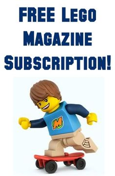 FREE Lego Magazine Subscription!  @moxiethrift on etsy Puckett I didn't check the details, but thought of you immediately :)