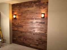 Love This Wall Treatment With A Recessed Section Finished In Wood Planks The Homeowner Said Hardwood Floor Colorshardwood