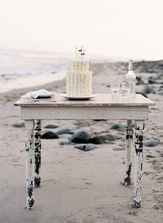 rustic nautical theme, cake with frayed toothpick flags, reminiscent of pirate ships