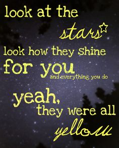 Coldplay; Yellow