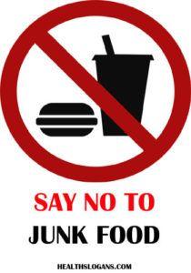 Say No To Junk Food Junkfood Fastfood Healthslogans In