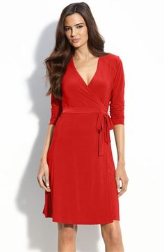 Red Dvf Dress Wrap Dress dresses