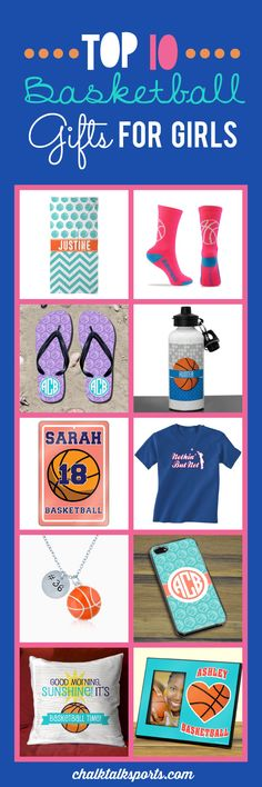Top 10 basketball gift ideas for girls! Perfect gift ideas for holidays, special occasions, and end of season gifts! These products are made-to-order and can be personalized with your team and basketball player's info! Plenty of custom products to choose from at ChalkTalkSPORTS.com!