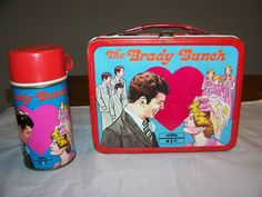 The Brady Bunch Lunch Box & Thermos (Vintage 1970 Metal Lunchbox)
