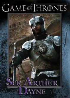 Ser Arthur Dayne - Luke Roberts - Game of Thrones Season 6 Promo Card #S2