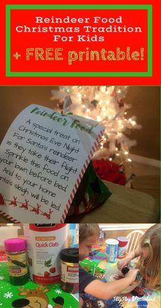 Santa S Magic Reindeer Food With Free Printable Bag Topper
