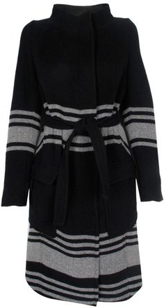 Band Of Outsiders Preorder Funnel Neck Coat - Lyst