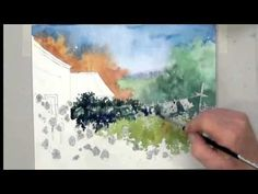 Ev Hales Watercolor Demonstration 3. Creating An Illusion of Depth - YouTube