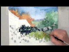 Mini Demo of Key Watercolor Technique (2)--the Sponge - YouTube