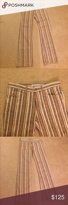 Isabel Marant ETOILE printed pants NWOT Isabel Marant ETOILE jeans • printed striped • two front & back pockets • full length legs • slight boot cut style • Sz 8 (40 Fr)never worn • excellent condition • fast same/next day shipping • BUNDLE BUY IT NOW!!! Isabel Marant Pants