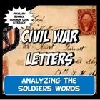 What an engaging activity that your students will love! What could be better than learning through reading directly from the soldiers at war? This activity set includes a one page reading about the postal system during the Civil War and five fascinating primary source letter excerpts for students to analyze.