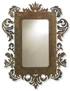 Crow's Nest Trading Co....great rustic mirror.