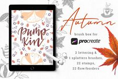 Autumn Brush Box for Procreate by Gray Cat Graphics on @creativemarket