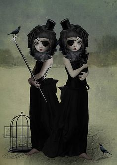 A Difference of Opinion - by Tanya Mayers #popsurrealism #lowbrow