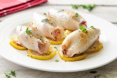 Calamari grigliati ripieni di fagioli e pecorino ricetta Calamari, Fagioli, Fett, Eggs, Chicken, Breakfast, Recipes, Pasta, Kitchens