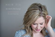 Hair Fix Series: No More Flat Bangs