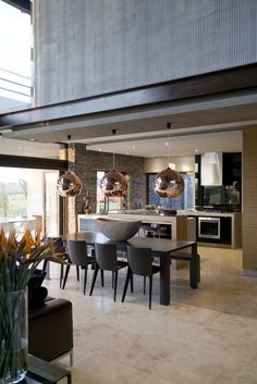 Reclaimed wood feature wall and custom branded lightbox for Luxury kitchen johannesburg