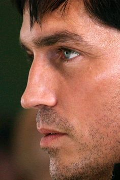 Nick Santini -- okay, it's not Nick, but I love this profile shot! He could be Nick ... // Jim Caviezel