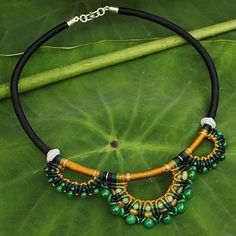 Handcrafted Jade Macrame Necklace - Goddess | NOVICA