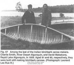 Birch Bark Canoe at Maniwaki, Quebec in 1959