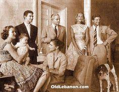 President Kamil Chamoun and family.