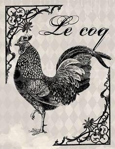 Shop for art on Etsy, the place to express your creativity through the buying and selling of handmade and vintage goods. French Ephemera, French Typography, Printable Art, Vintage Graphics, Farm Prints, Sign Image, Printable Artwork, Vintage Typography, Chicken Art