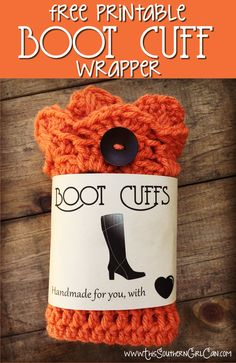 Boot cuff wrapper with pattern