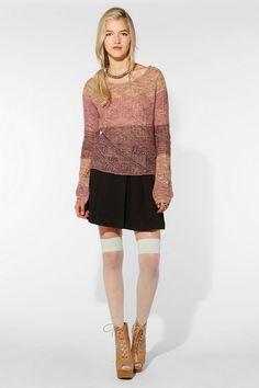 Adrienne Larsen for Philly U   UO Lurex Detail Sweater  #UrbanOutfitters