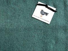 Felted Wool Fabric Fat Quarter - Hand Dyed Wool Fabric - Lake Blue Herringbone - Applique or Rug Hooking Wool by SimplyUniqueBySheila on Etsy