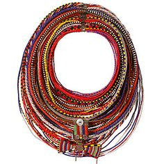 Kenyan married Samburu woman's beaded necklace.  Mingei International Museum~